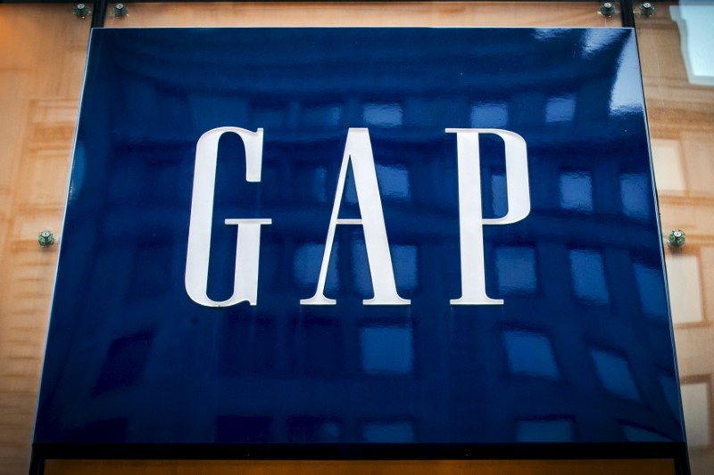 The sign for a Gap store is seen on 5th avenue in midtown Manhattan in New York