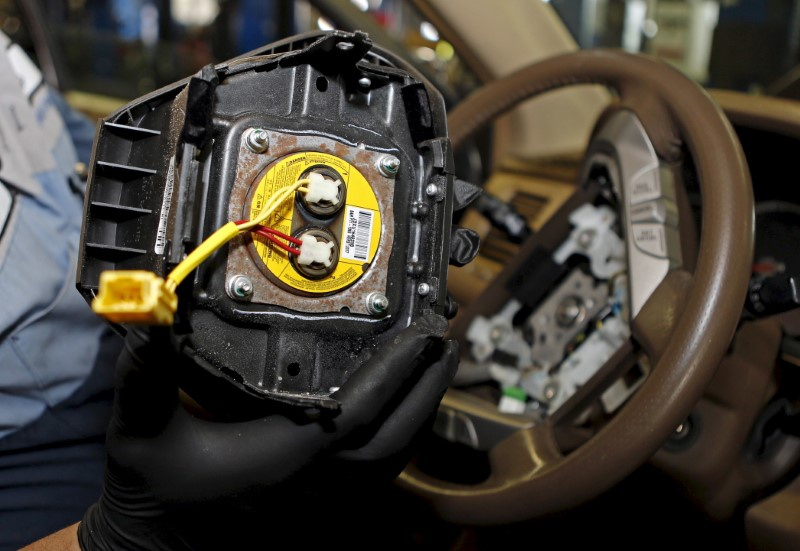 Four car makers settle claims over Takata inflators for $553 mln