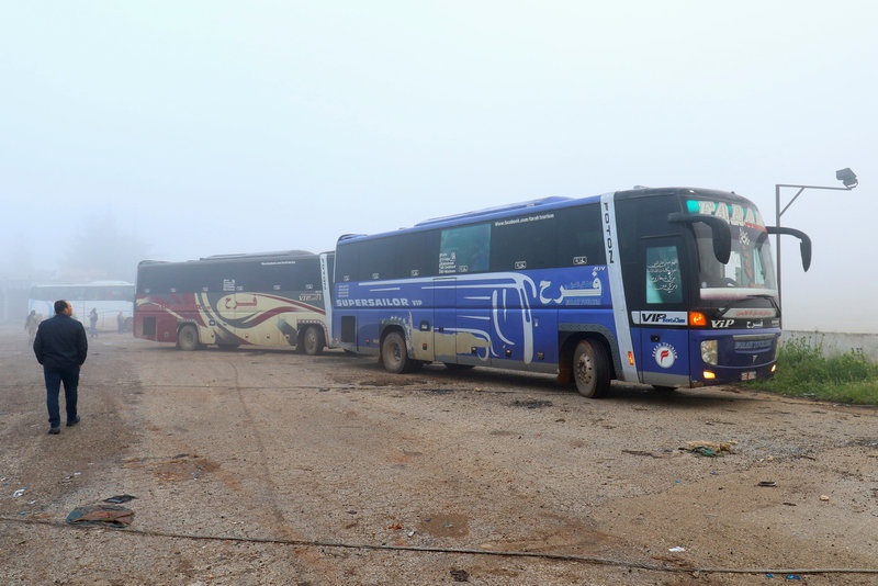 Syrian TV says dozens killed in blast near evacuation buses