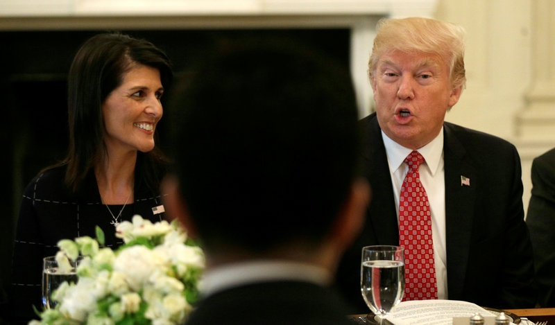 'Nikki Haley can be easily replaced,' President Trump jokes class=