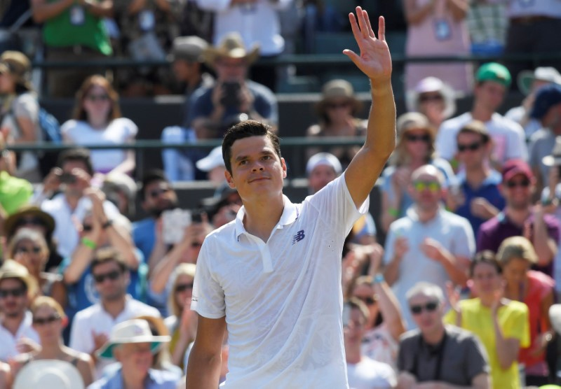 Canada's Milos Raonic advances to fourth round of men's draw at Wimbledon