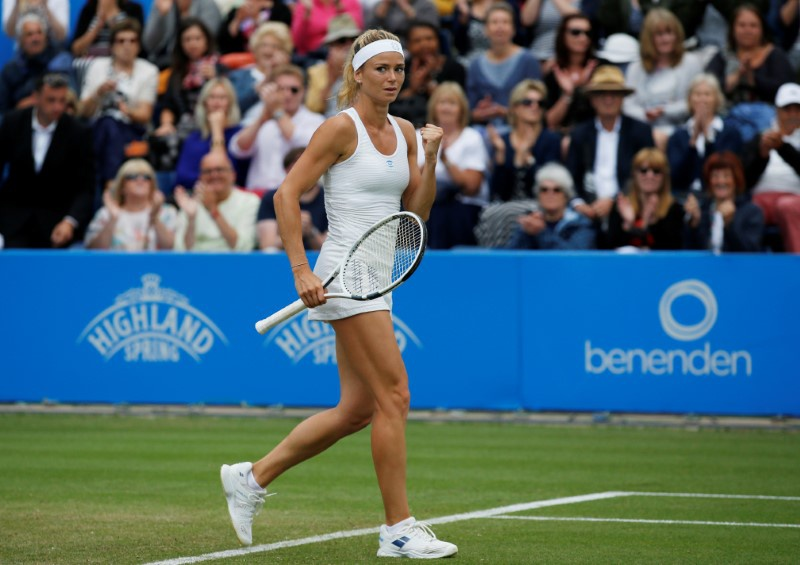 Johanna Konta loses to Coco Vandeweghe at the Aegon Classic in Birmingham
