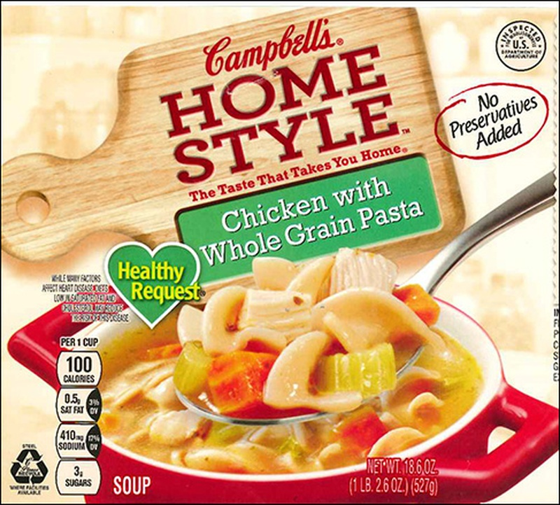 Campbell's recall chicken soup product