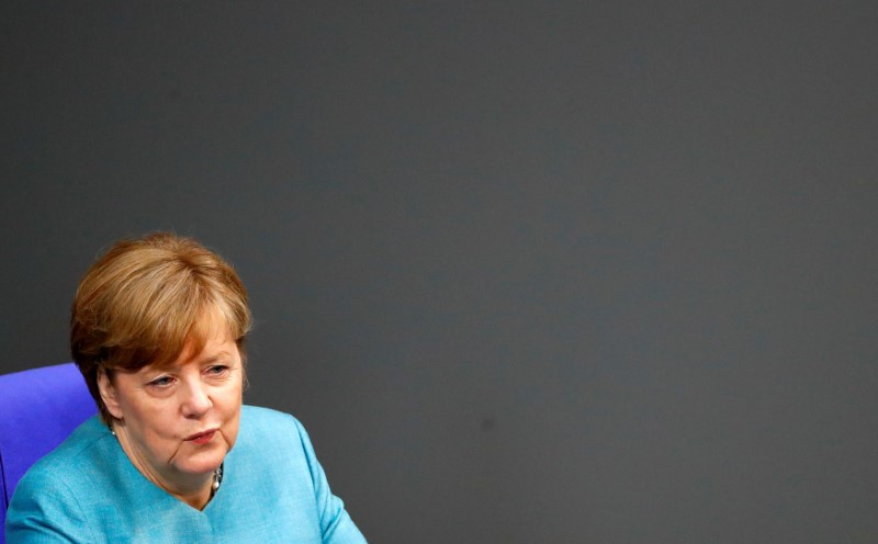 May meets Merkel in Germany ahead of G20 summit