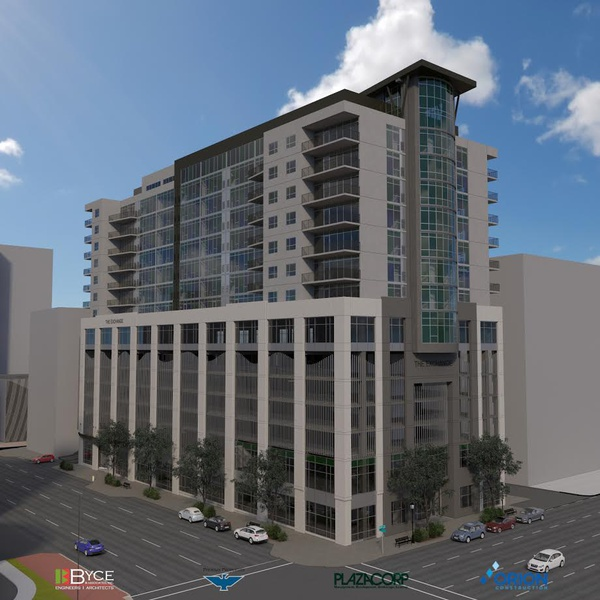 "Rendering of the final 15 story version of ""The Exchange"" (Courtesy Plaza Corp)"
