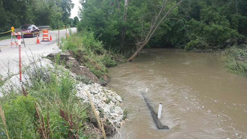 Flood damage in Kenosha County