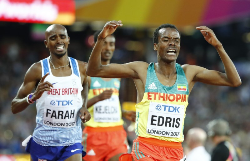 Muktar Edris crashes Mo Farah party with 5000m gold