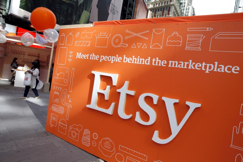 Etsy heading for biggest gain since 2015 after funds disclose stake