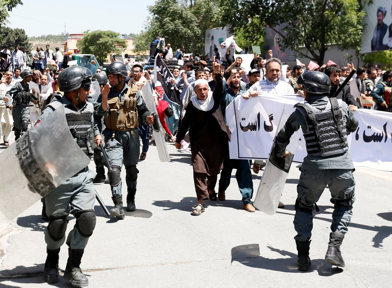 Afghan Forces Lock Down Kabul After Protest Clashes