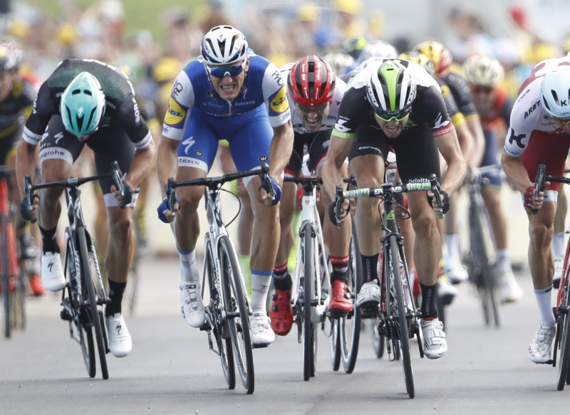 Cycling- The 104th Tour de France cycling race- The 213.5-km Stage 7 from Troyes to Nuits-Saint-Georges France