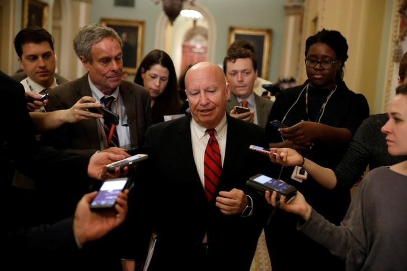Means Committee Chairman Kevin Brady speaks with the media on Capitol Hill in Washington D.C. U.S. Marc