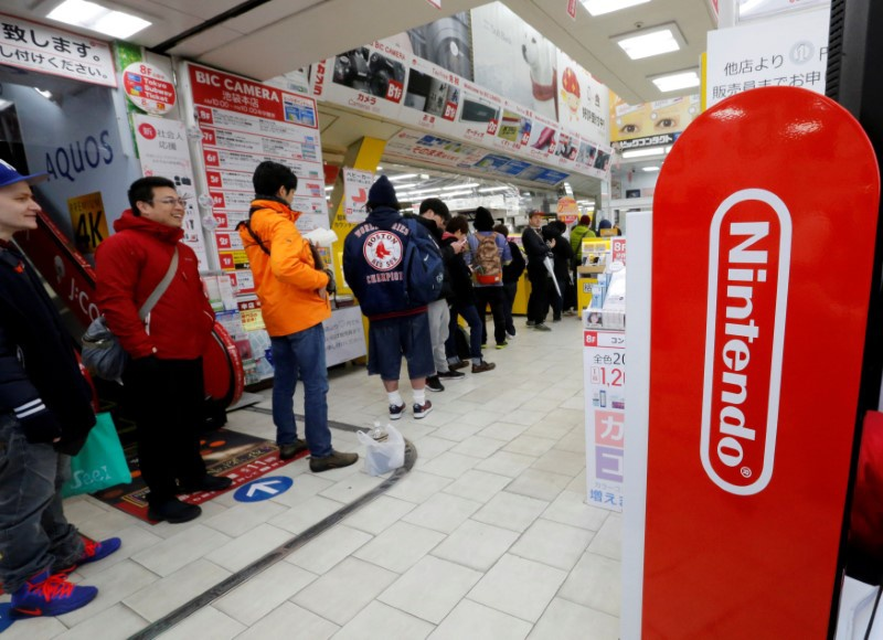 Nintendo holds to Switch sales view despite demand
