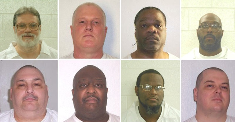 Judge blocks execution of 1 of 8 Arkansas inmates