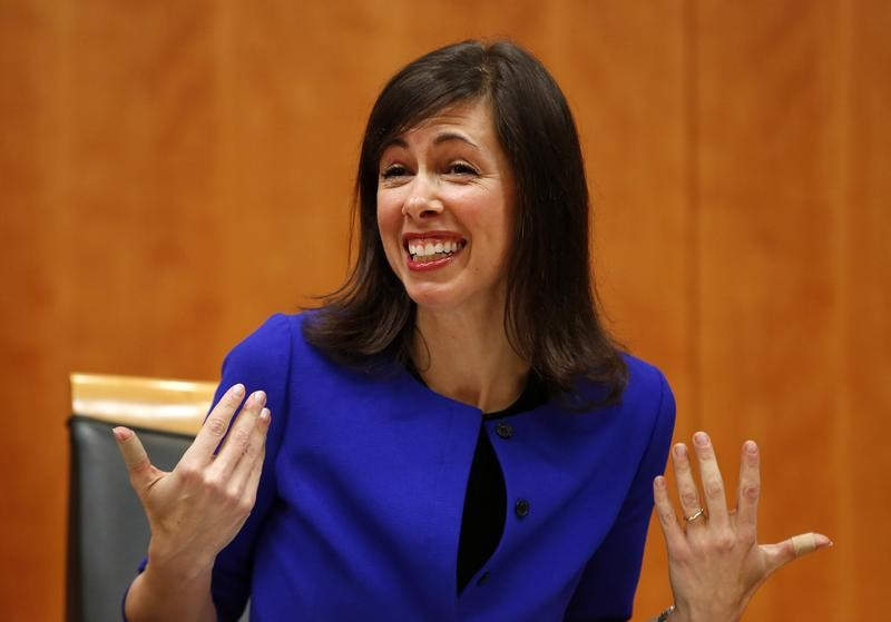 Federal Communications Commission commissioner Jessica Rosenworcel attends a FCC Net Neutrality hearing in Washingt
