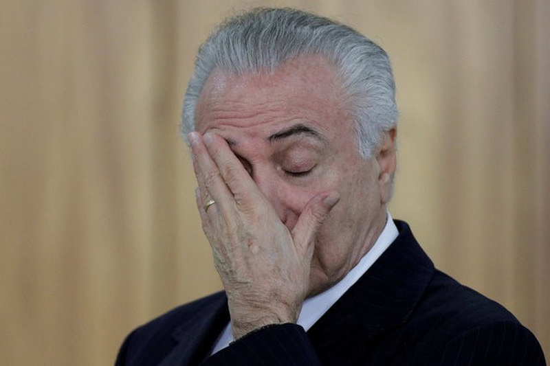 Brazil's Temer calls graft charge a 'fiction' as crisis deepens