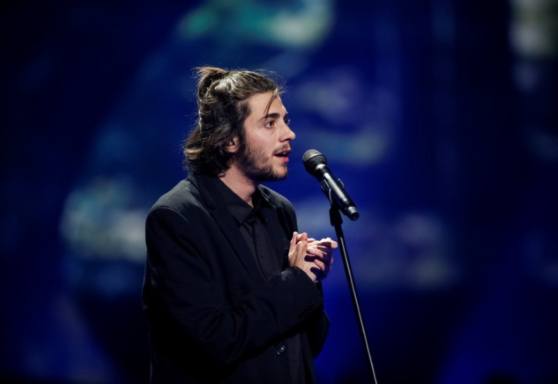 Portugal's Salvador Sobral performs with the song