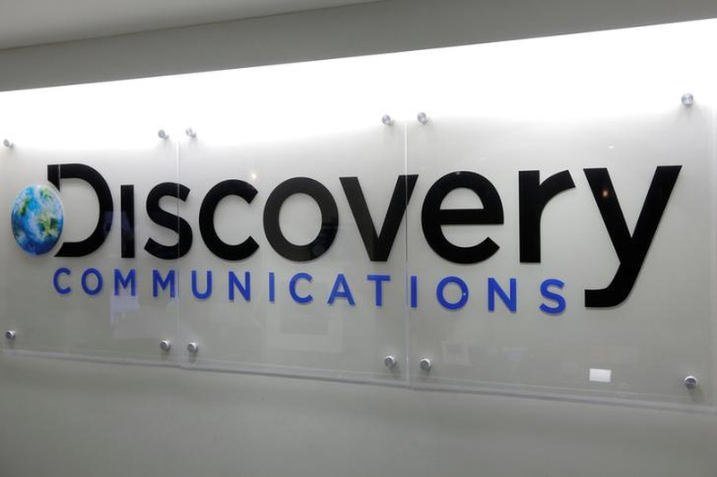 The Discovery Communications logo is seen at their office in Manhattan New York U.S
