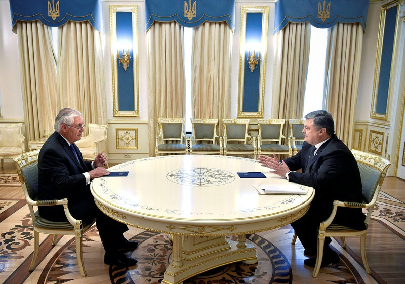 Image result for photos of tillerson and ukrainian president