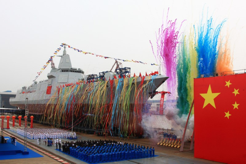 China's navy puts latest-generation destroyer in the water