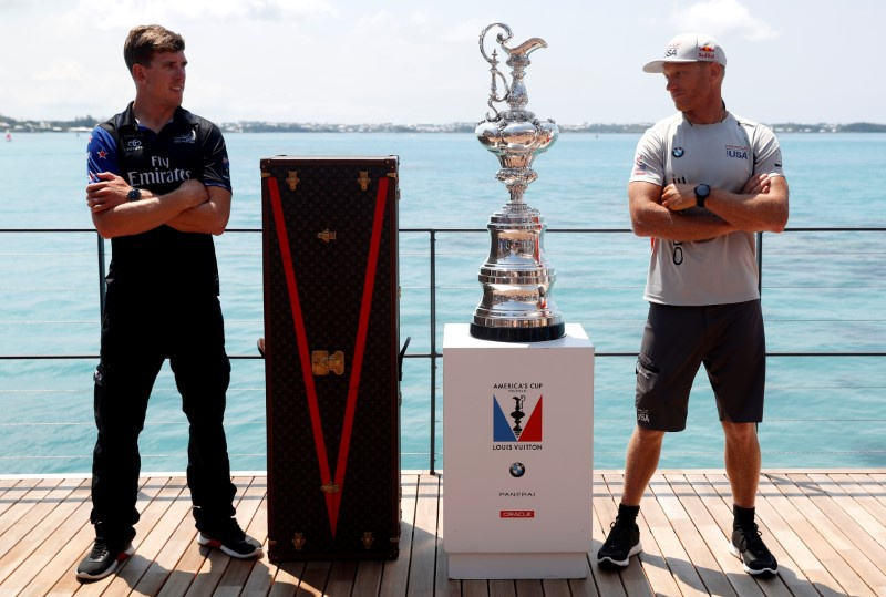 Kiwis beat Oracle in 1st 2 America's Cup races in Bermuda