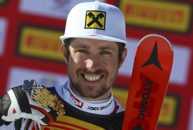 Austrian Hirscher claims first giant slalom title