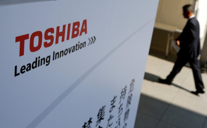Toshiba shares rise on report Broadcom chosen as chip unit buyer