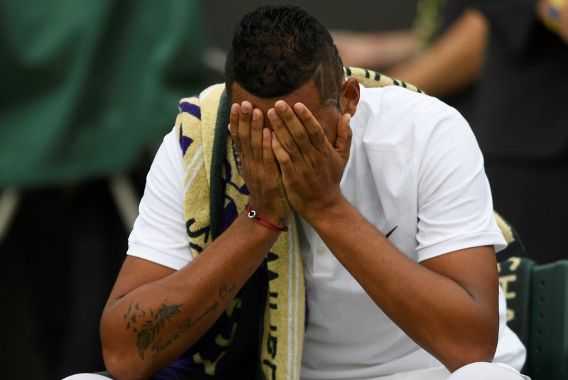 Wimbledon 2017: Nick Kyrgios retires against Pierre-Hugues Herbert