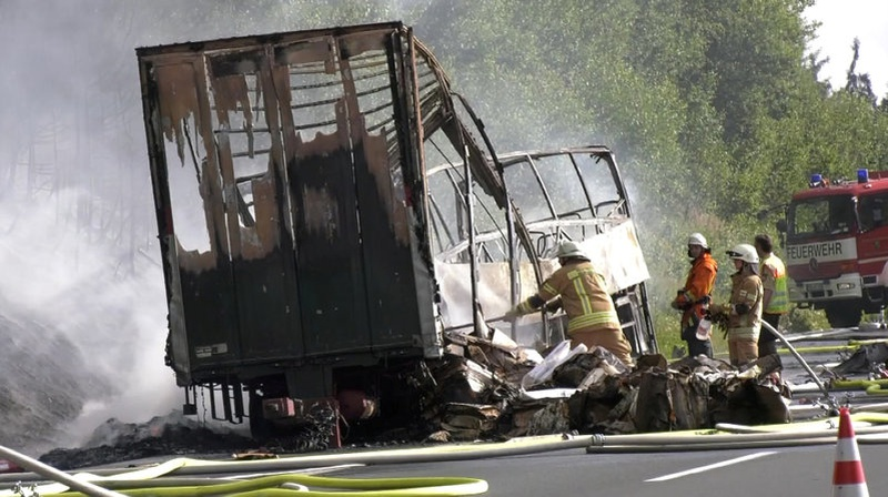 'Several' feared dead in German bus crash with 17 unaccounted for