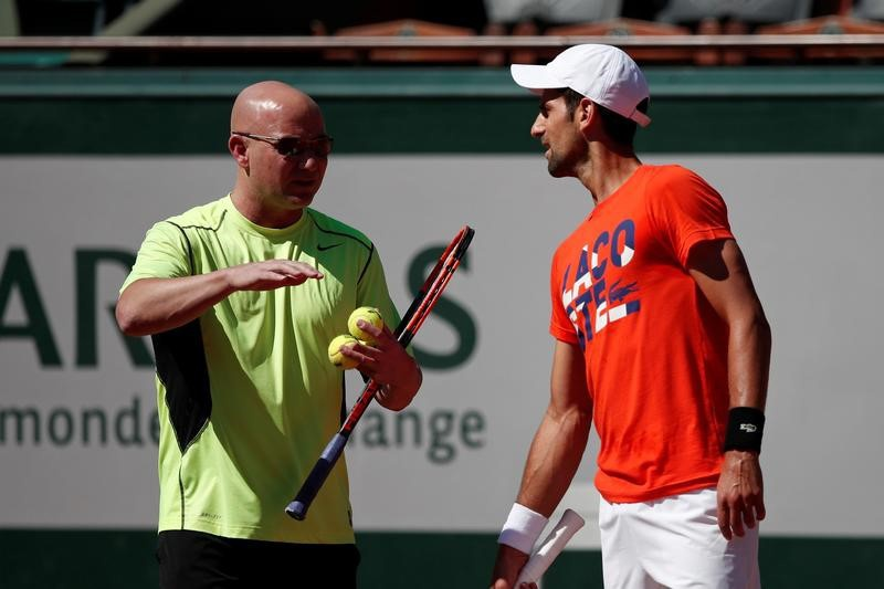 Djokovic to have Agassi in his corner throughout Wimbledon