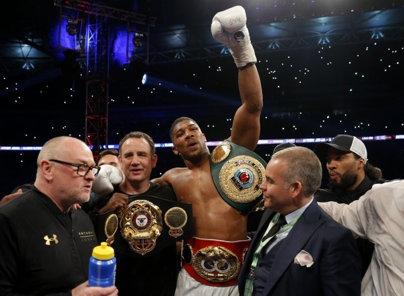 Joshua knocks out Klitschko to unify heavyweight title