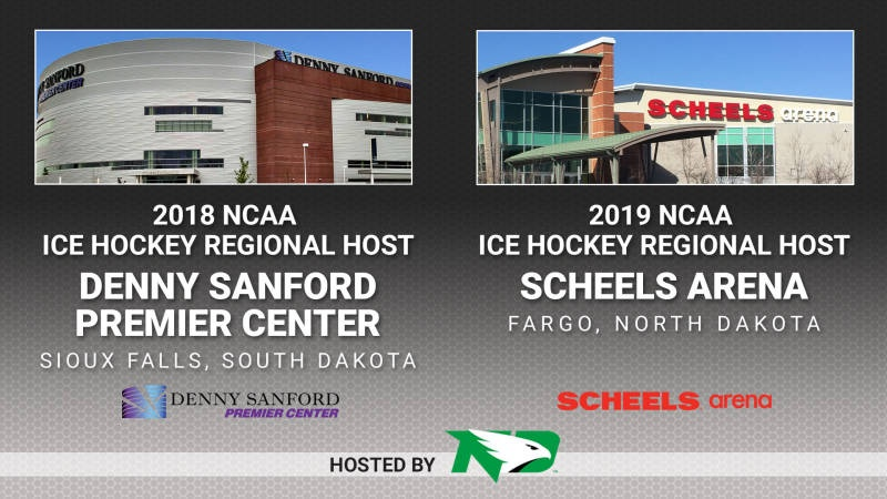 Sioux Falls, Fargo awarded NCAA men's hockey regionals in 2018, 2019
