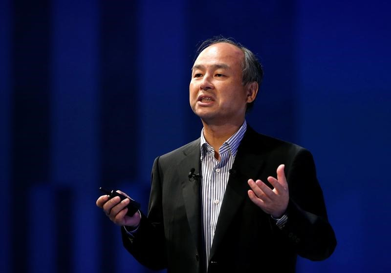 SoftBank Group Corp Chairman and CEO Masayoshi Son speaks at Soft Bank World 2017 conference in Tokyo Japan