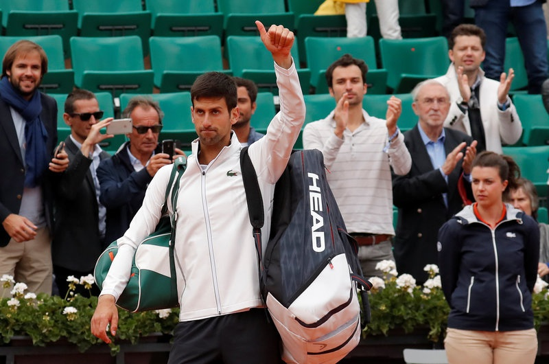 Djokovic surrenders in French Open quarter-finals