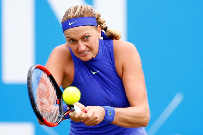 Kvitova reaches first final since injury, Muguruza beaten