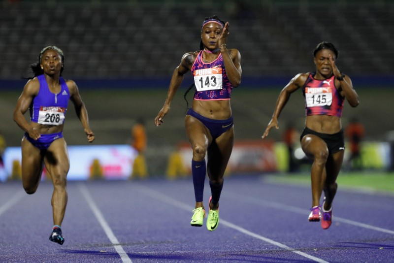 Thompson, Blake win 100m at Jamaican championships