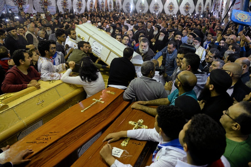 Egypt's Christians bury dead after IS church bombing