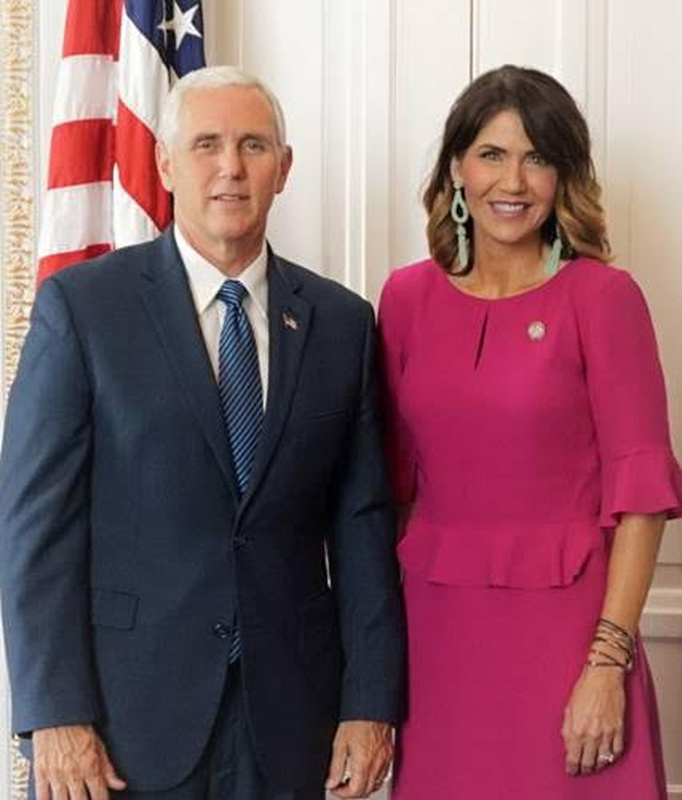 Vice President Mike Pence and Rep. Kristi Noem 6/13/17