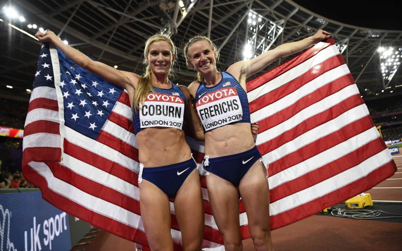Coburn sets women's steeplechase championships record at London worlds