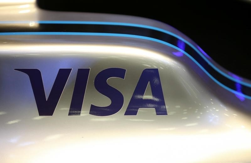 Visa's quarterly profit jumps 27 per cent on payment network activity