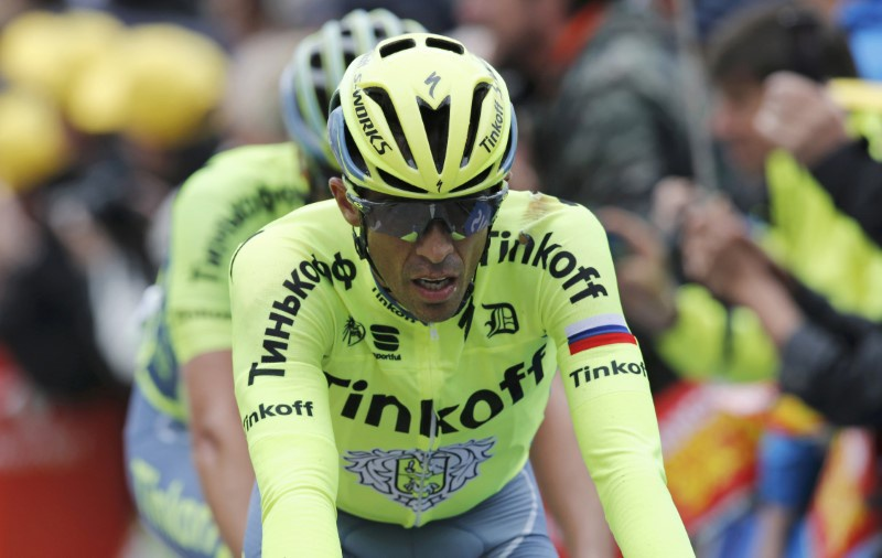 Cycling- Tour de France cycling race- The 183-km Stage 2 from Saint Lo to Cherbourg-en-Cotentin France- 03/07/2016- Tinkoff