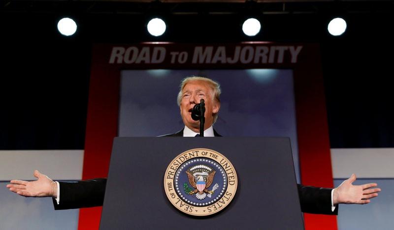 Donald Trump breaks silence on Comey testimony