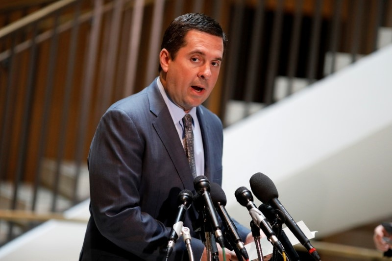 House Permanent Select Committee on Intelligence Chairman Devin Nunes speaks to the media about President Donald Trump's allegation