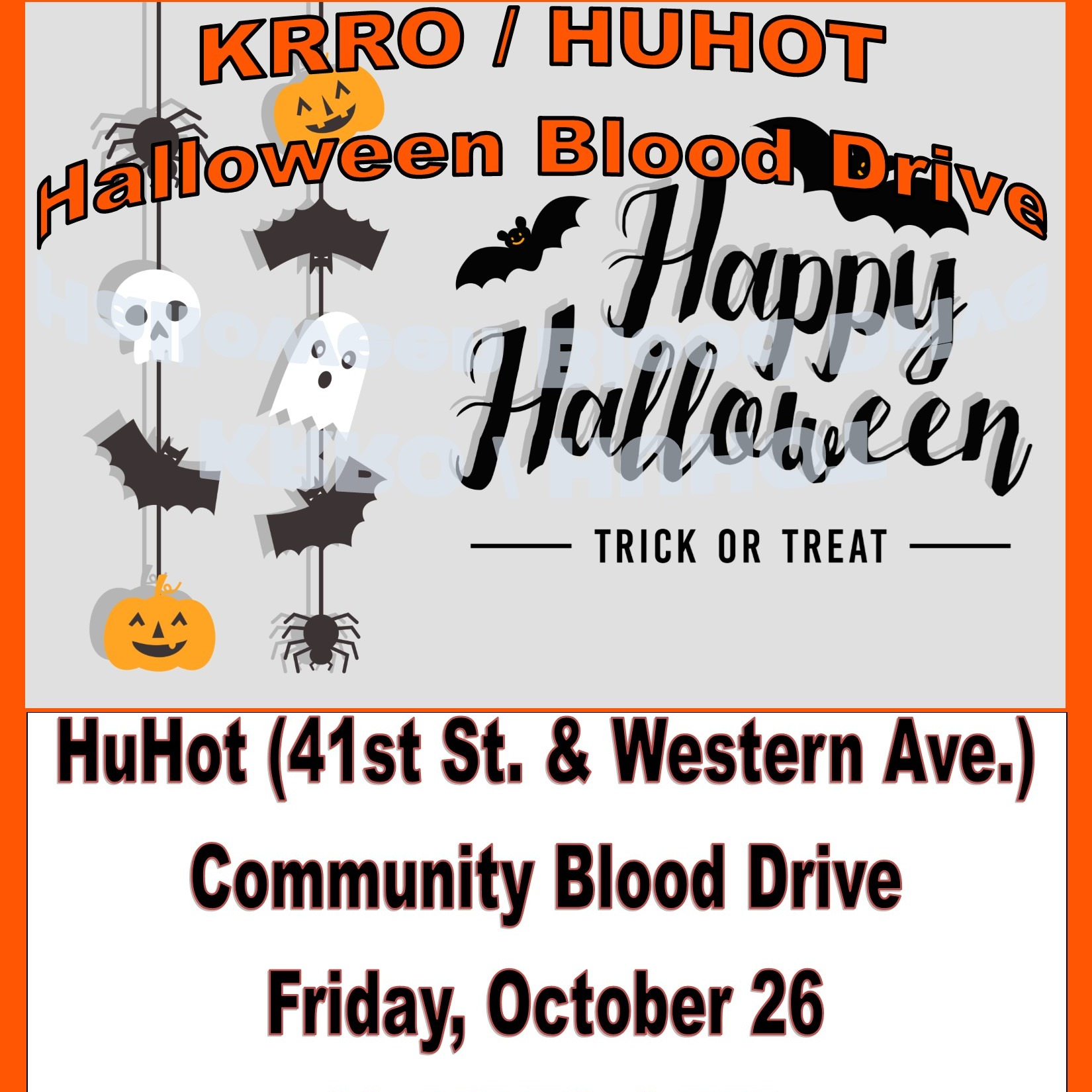 the krro annual halloween blood drive | 103.7 the krro