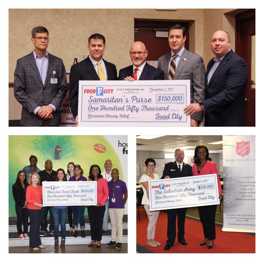 Food City Campaign Raises $450k for Hurricane Harvey Relief
