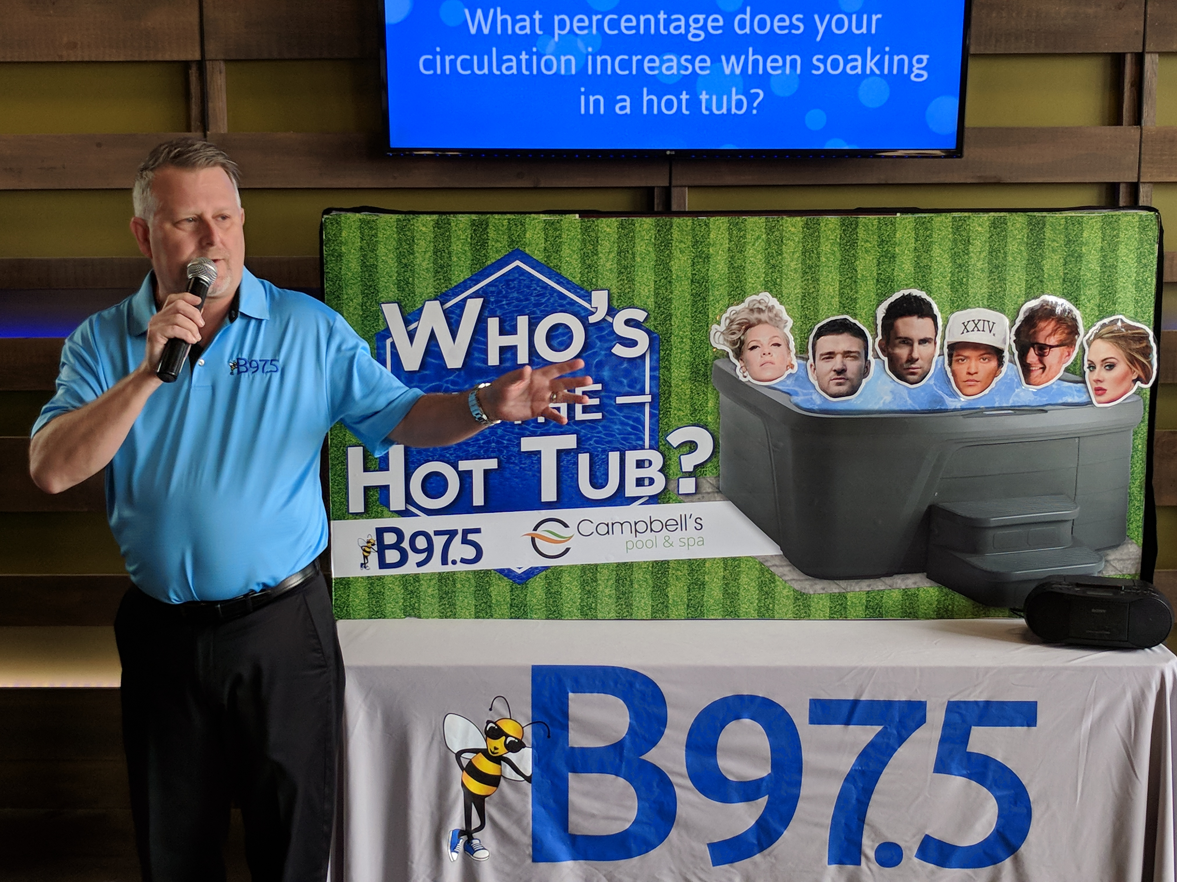 Photos: Campbell\'s Pool and Spa - Who\'s In the Hot Tub Giveaway! | B97.5