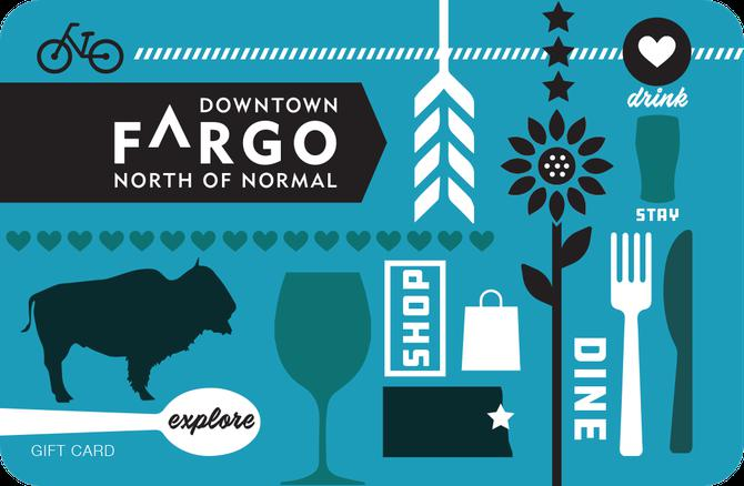 a downtown fargo gift card with 50 places to spend it - Gift Card Places