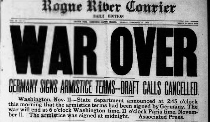 World War I comes to an end   The Mighty 790 KFGO