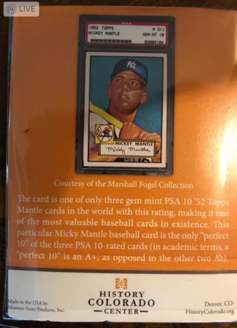 The Man With The 12000000 Mickey Mantle Rookie Card