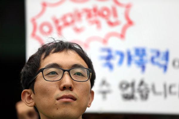 ▲ 양심적 병역거부자로 수감 중인 박정훈 씨. 그는 입대 대신 대체 복무를 주장했지만 받아들여지지 않았다. (사진 : 연합뉴스)