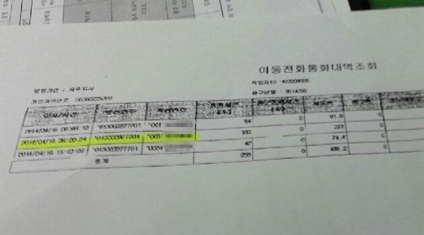 ▲ 제주 해양경찰청은 통화기록을 조사해본 결과, 안산 단원고에 8시 20분 경 전화를 건 쪽은 제주자치경찰단인 것으로 확인했다고 밝혔다.